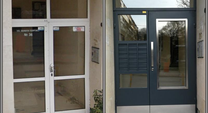 Нова входна врата с пощенски кутии